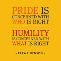 Exchange Pride For Humility